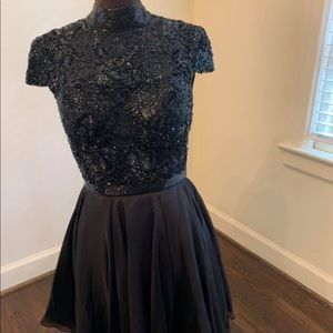 Sherri Hill Black Cocktail Dress Size 4